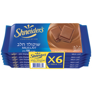 Shneiders Milk chocolate 6 Pack