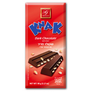 Knak dark chocolate with rice