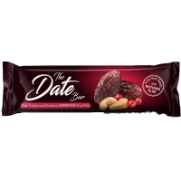 Date, Cashew and Cranberry snack bar